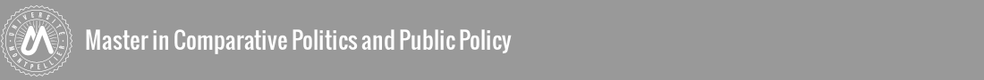 Master in Comparative Politics and Public Policy Logo